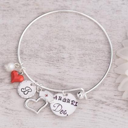 Hand stamped personalized bangle nu..