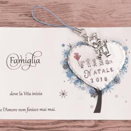 Hand stamped Christmas decoration, ..