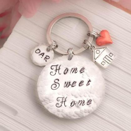 Sweet home keychain as moving gift ..