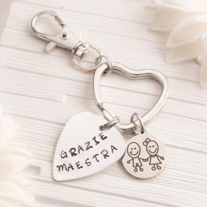 Music teacher keychain retirement -..