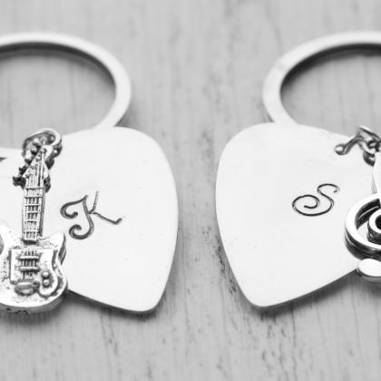 Hand stamped custom initial guitar ..
