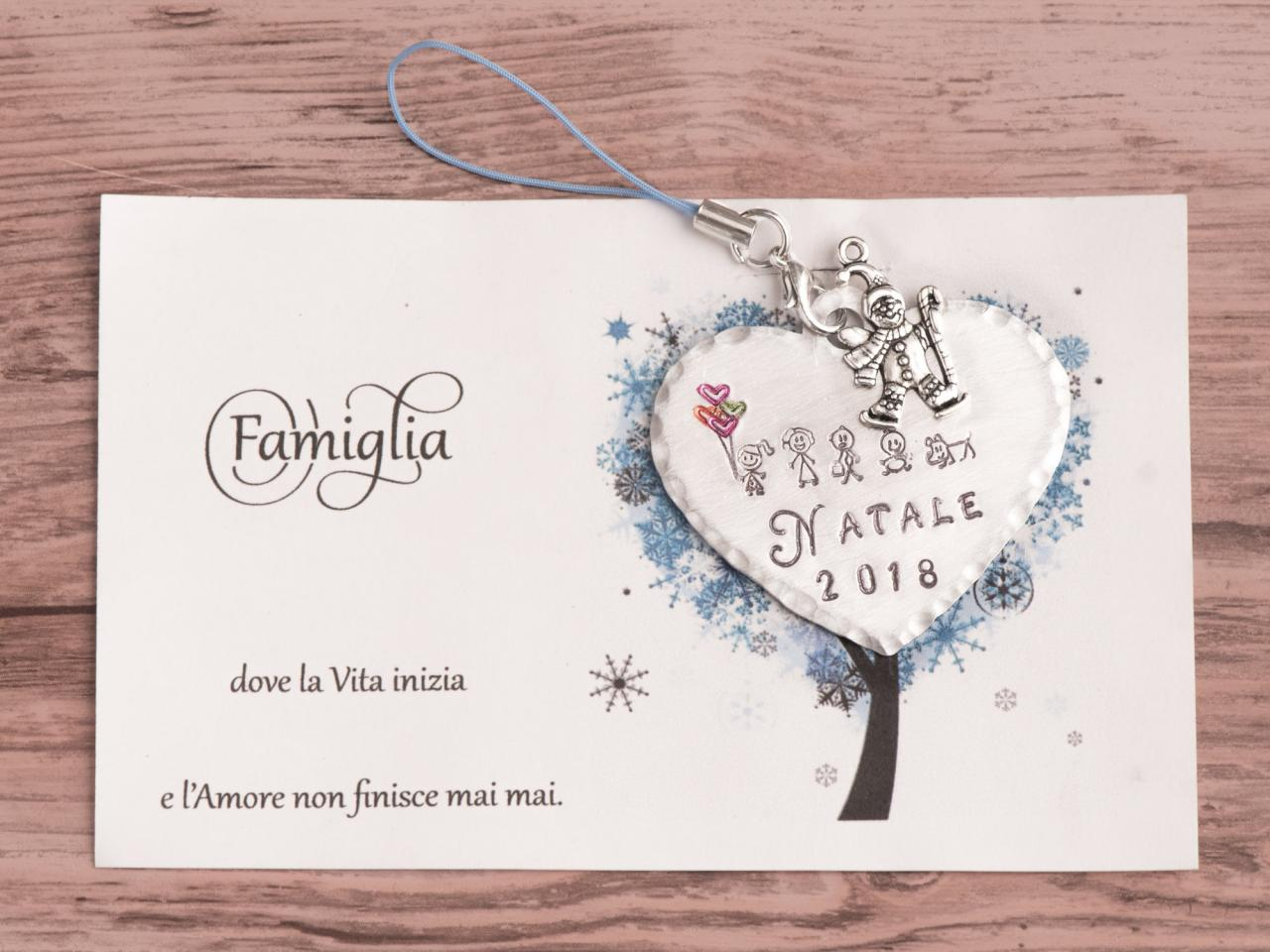 Hand stamped Christmas decoration, Our first Christmas decoration tree 2018. Engraved Family keepsake