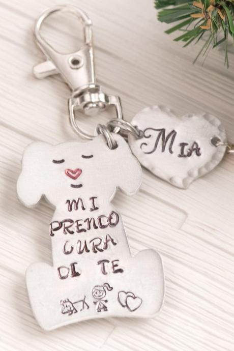 My dog keychain as puppy dog lover gift