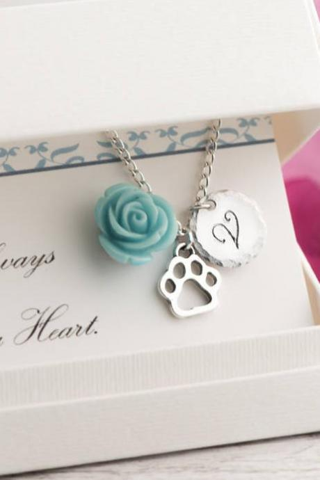 Dog pet loss gift necklace sympathy