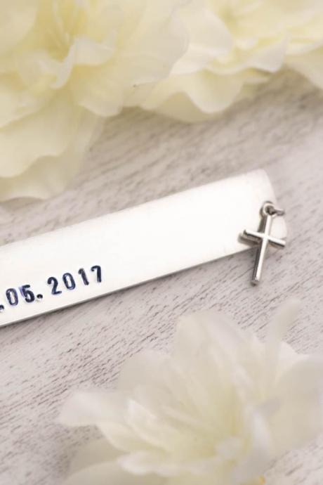 confirmation gift or first Communion gift with bookmark personalized as save the date bookmark-black Friday or xmas girlfriend gift