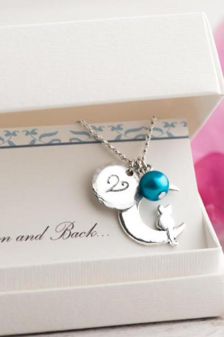 Silver cat moon necklace as custom sympathy gift