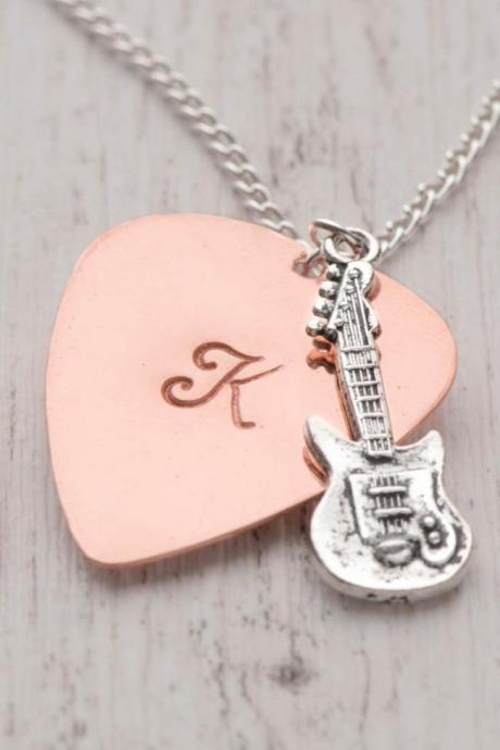 boyfriend birthday gift with 1 initial pick - guitar plectrum as metal pick as boyfriend pick - engraved pick as gift for dad from daughter